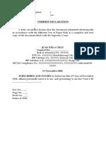 Verified Declaration - Sample.docx