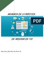 Act. 19_ Entrega de La Memoria de Prácticas Con Arduino