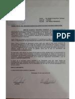 Carta del presidente Martín Vizcarra al Ministerio Público de Moquegua