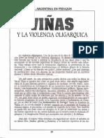 PIGLIA. 'Viñas y La Violencia Oligárquica'