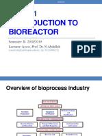 Introduction to Bioreactor