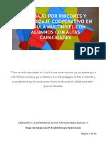 Trabajo Por Rincones y Aprendizaje Cooperativo en Un Aula Multinivel Con Alumnos Con Altas Capacidades PDF