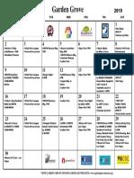 Calendar June 2019 PDF
