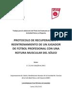 Tfg Protocolo de Recuperación y Reentrenamiento Futbol Rotura Muscular Del Sóleo
