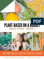 Plant Based Meal Plan Week 1