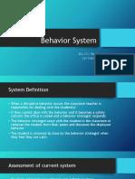 behavior systems
