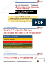 Unidad 3 - Sesion 17-18 La Psicologìa Aplicada a La Negociación