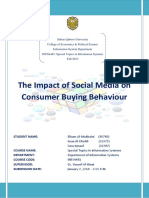 The Impact of Social Media on Consumer B