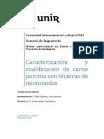 Caracterización y cualificación   de   carne porcina con técnicas de microondas
