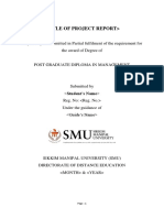Smu Project Report