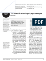 The Scientific Standing of Psychoanalysis