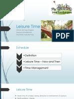 Leisure Time - Presentation