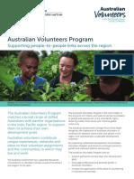 Australian Volunteers Program Supporting People to People Links Across the Region