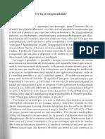 Maldiney de La Transpassibilitu00E9