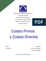 Costos Primos y Costos Directos
