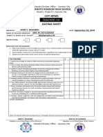 Rating Sheet Teacher I III 051018
