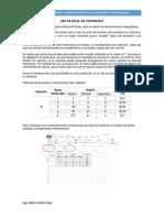 Uso de Excel en Topografía
