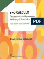 Cuadernillo de Evaluación Test (Pro-Cálculo)
