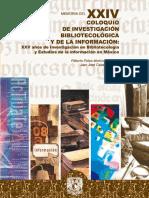 Arellano, González (2006) Memoria Del XXIV Coloquio de Investigación Bibliotecológica y de La Información