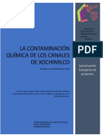 Contaminación Química de Los Canales de Xochimilco Mexico