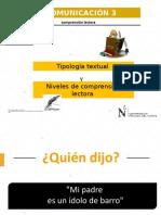 PPt1-Tipología Textual y Niveles de Comprensión Lectora