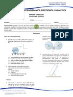 Examen Unificado Dinámica - 4 Corte - Final