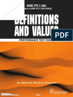 ASME PTC 2 - (2001) Definitions and Values