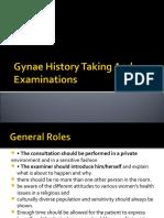 Gynae History