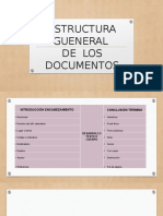 ESTRUCTURA GENERAL DE LOS DOCUMENTOS