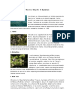 Reservas Naturales de Guatemala