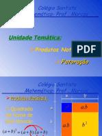 Slide Produtos Notaveis e Fatoração