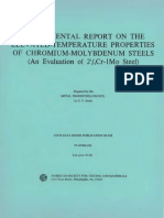 DS6S1 - (1966) Supplemental Report on the Elevated-Temperature Properties of Chromium-Molybdenum Steels
