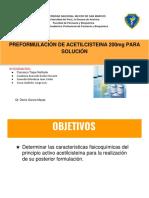 preformulacion acetilcisteina