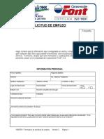 1040FI01 Formulario de Solicitud de Empleo