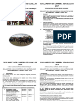 Reglamento Carrera de Caballos 2019 coporaque