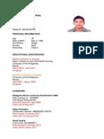 EMedical Resume Format