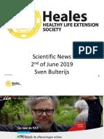 Scientific News 2nd of June 2019