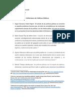 DEFINICIONES DE Poiticas Publicas