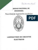 Laboratorio de Circuitos Electricos - Practicas UNI