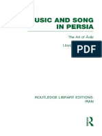 Lloyd Miller Music and Song in Persia the Art of Avaz