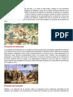 Proceso de Invasión, Conquista Centroamerica