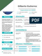 Modelo de Currículo - Gilberto Gutierrez