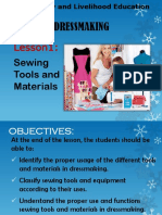 Tle - Dressmaking - Lesson 1 - Sewing Tools