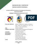 Medición y diagnostico de cobertura en Telefonía y Datos móviles para tecnología 3G y LTE en los distritos 1 y 2 de la ciudad de Sucre