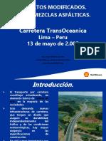 asfaltos modificados + polímeros Peru