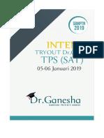 Soal INTENSIF 1.0 Tes Potensi Skolastik (TPS) Dr.ganesha
