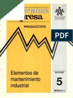 Elementos Mantenimiento Industrial Pequeña y Mediana empresa