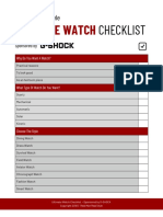 Ultimate Watch Checklist