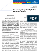 Study of Thin Film Coatings Deposited by Lateral Rotating Cathodes IJERTV4IS080518