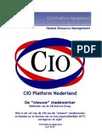 """CIO Platform Nederland De """"nieuwe"""" medewerker"""